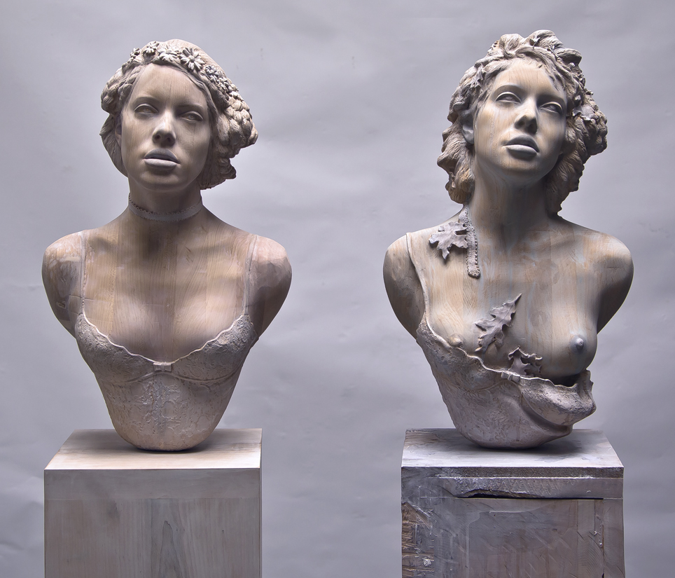 Тед Лоусон современная художница из Бруклина в основном работает со скульптурой, переплетая множеств