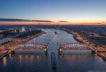 Большеохтинский мост белыми ночами