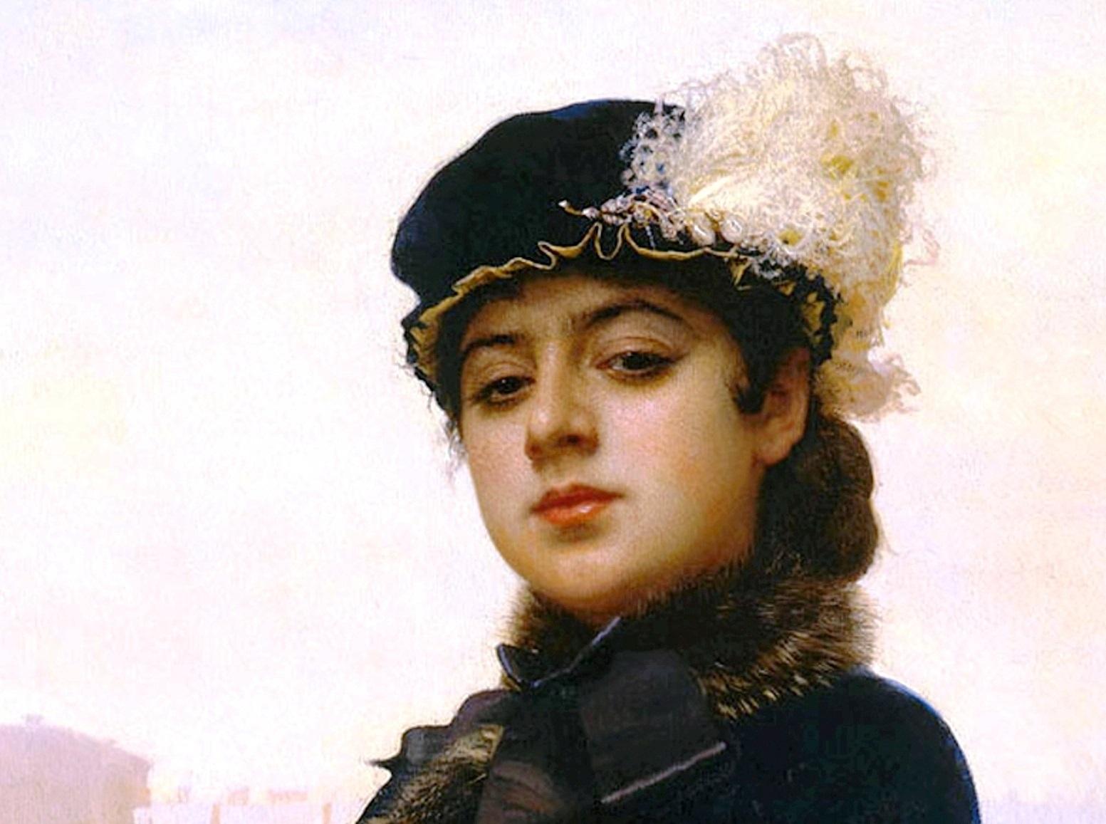 Крамской. Неизвестная. (Фрагмент картины)Kramskoy Portrait of a Woman.jpg