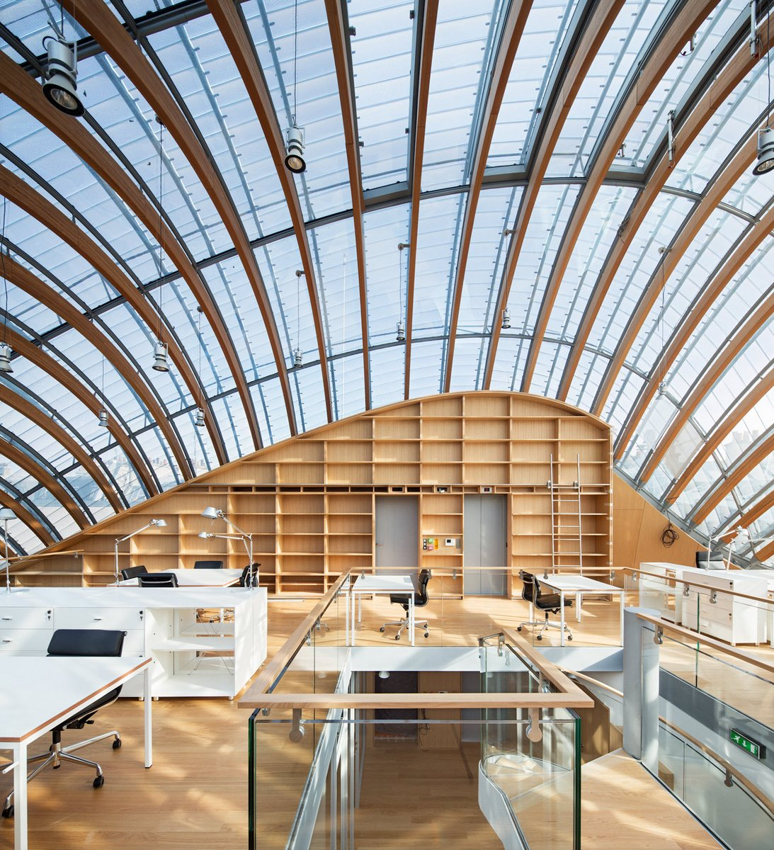 The New Pathe Foundation Headquarters by Renzo Piano Squeezed Into a City Block in Paris
