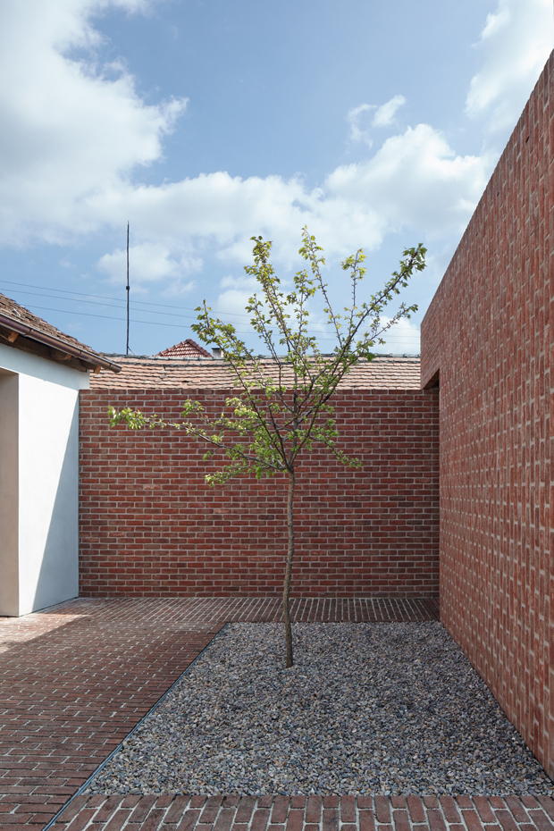 Designed by architect Jan Proksa, the Brick House islocated intraditional So