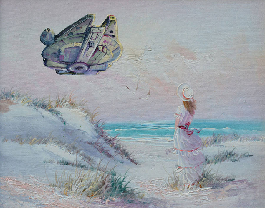Pop Culture Icons added in Thrift Store Paintings (21 pics)