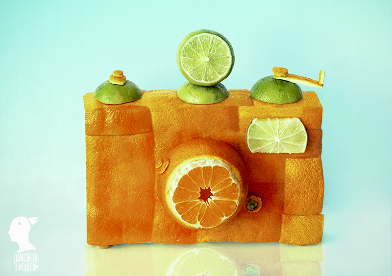 Food Sculptures Made with Fruits and Vegetables by Dan Cretu