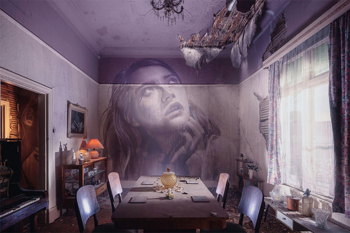 Rone is painting beautiful faces in abandoned houses (15 pics)