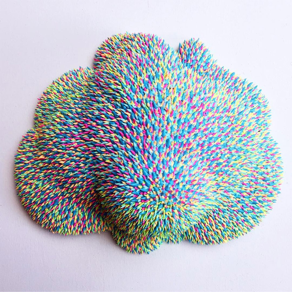 Artist Dan Lam's Drippy Blob-Like Sculptures Develop Sparkly Color-Changing Surfaces