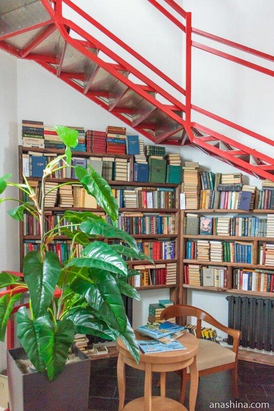 Библиотека в отеле Wardenclyffe Volgo-Balt, Вытегра