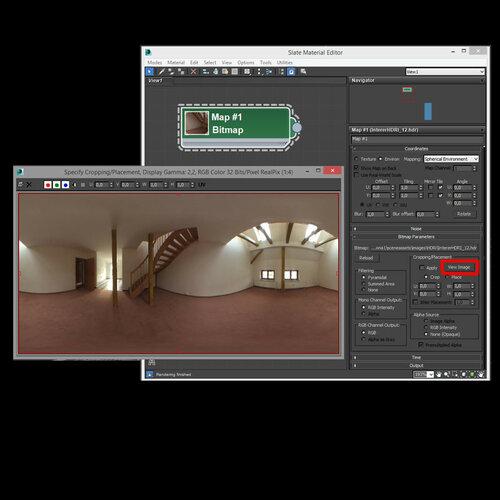 corona render 1 - просмотр сферической панорамы hdri в настройках процедурной карты
