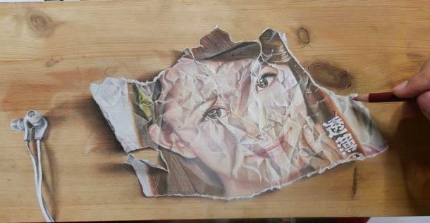 Wood Illusions - 12 illustrations sur bois de Ivan Hoo