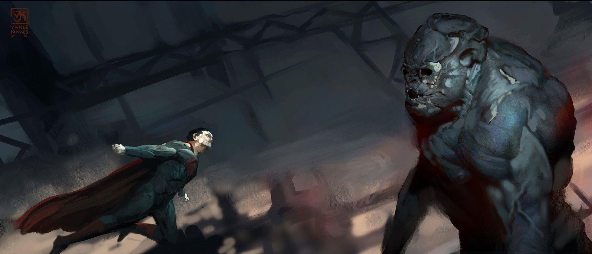 Batman v Superman: Dawn of Justice Concept Art by Vance Kovacs