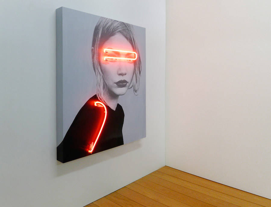 Blindness Neon Lights Portraits by Javier Martin