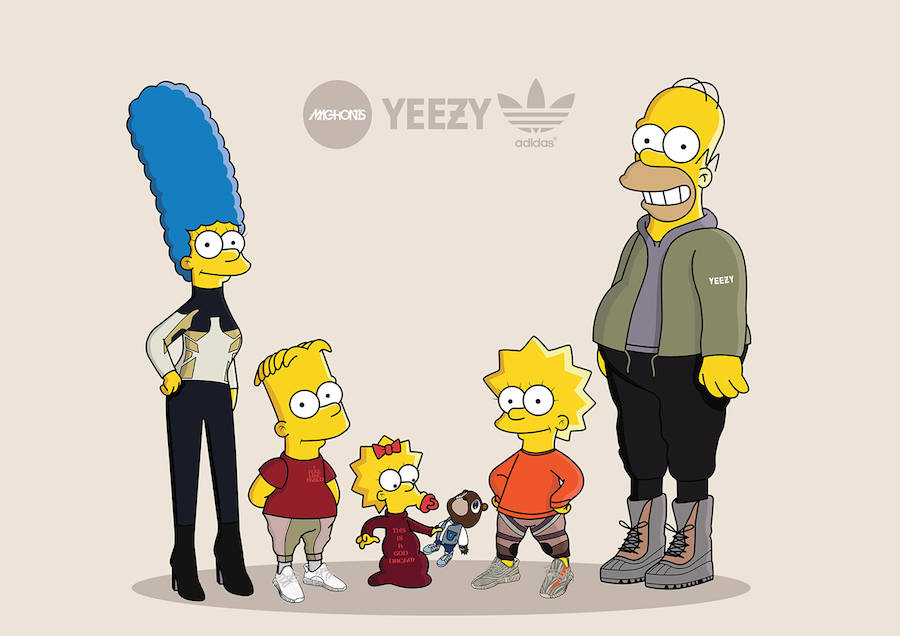 The Simpsons as Sneakerheads in Yeezy Boost (14 pics)
