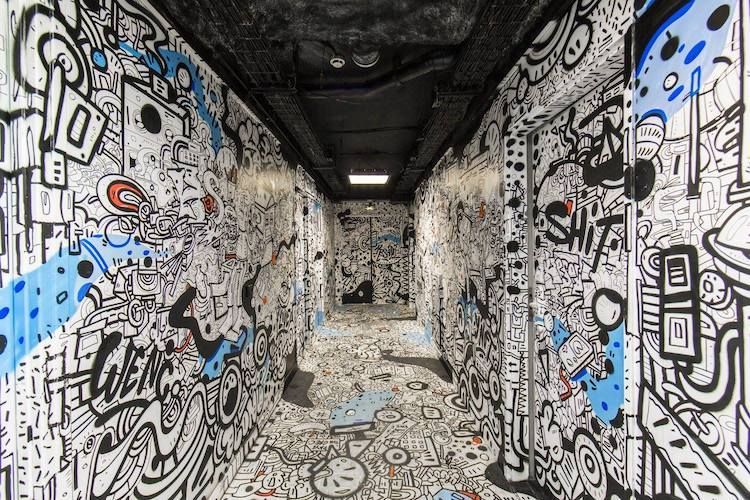 100 Graffiti Artists Take Over University Building in Paris