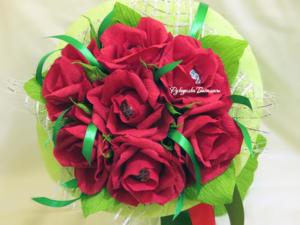 handmade, handwork, оригинальные подарки, подарки, ручная работа, свит-дизайн, цветы из бумаги, букет из конфет