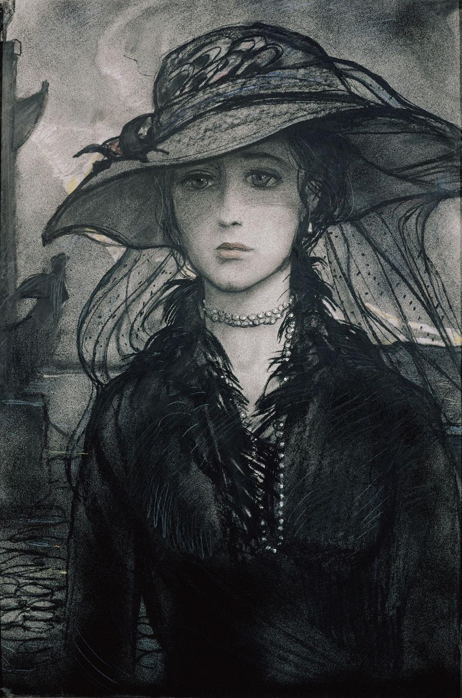 Иллюстрация к стихотворению А.А. Блока Незнакомка.