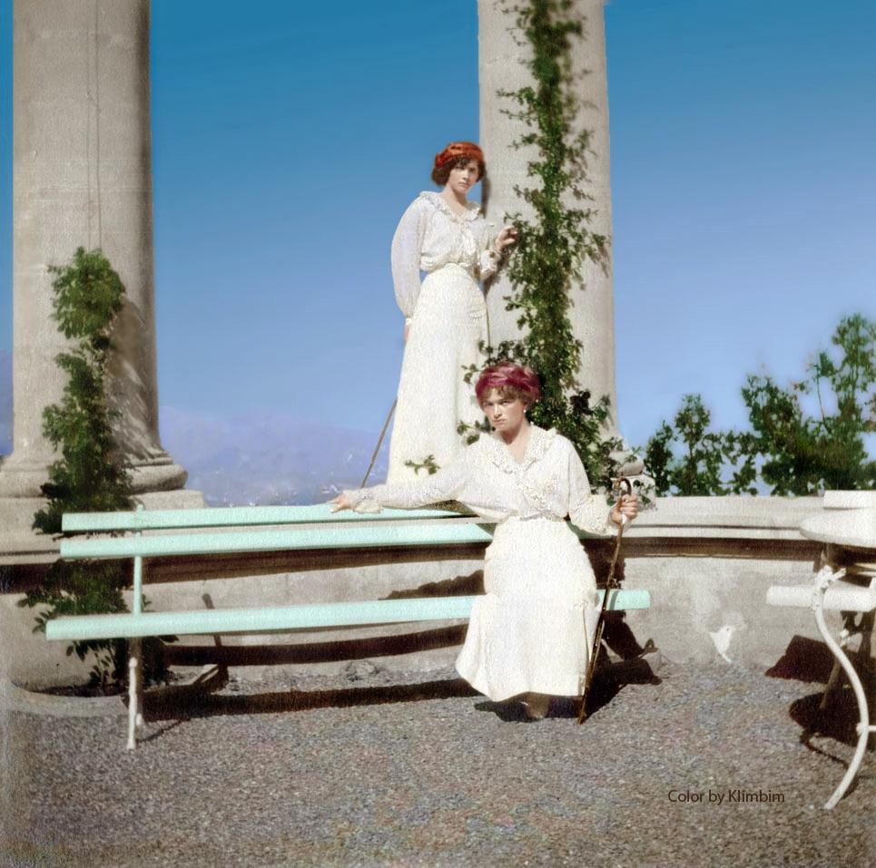 Великие княжны Татьяна и Ольга в Лмвадии