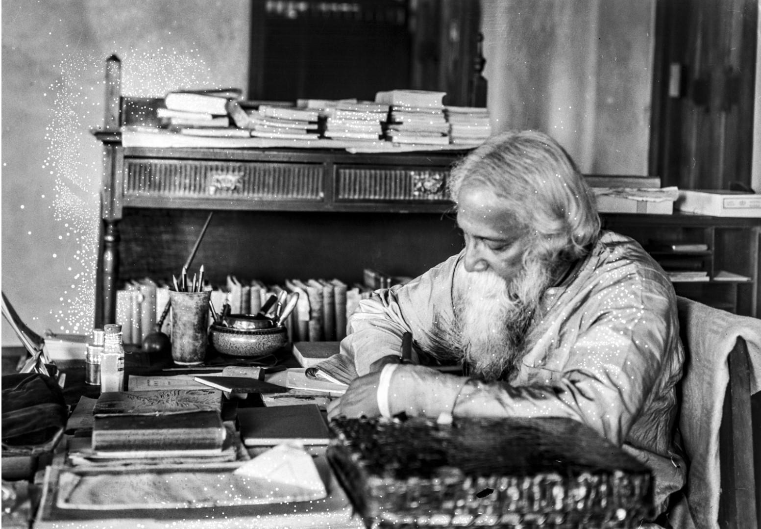 1316. Индийский писатель и лауреат Нобелевской премии Рабиндранат Тагор