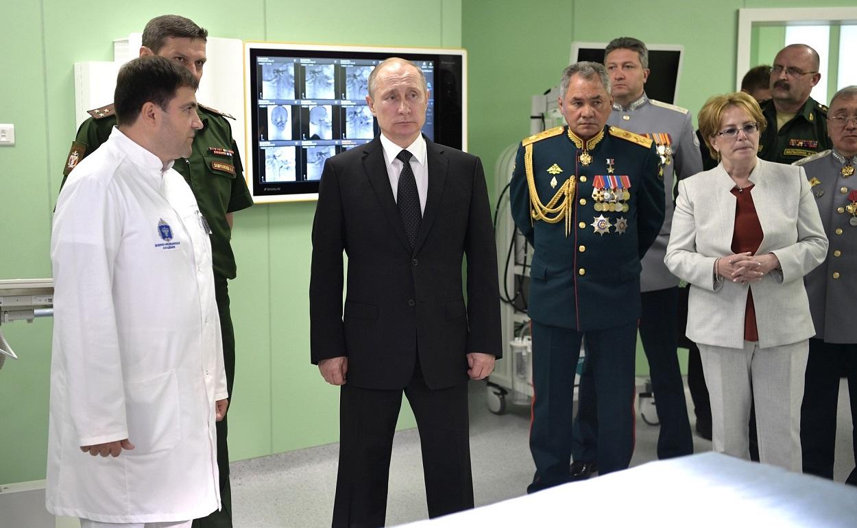 Посещение клиники Военно-медицинской академии имени С.М.Кирова, 30 июля 2017 г., Санкт-Петербург(3-1250)