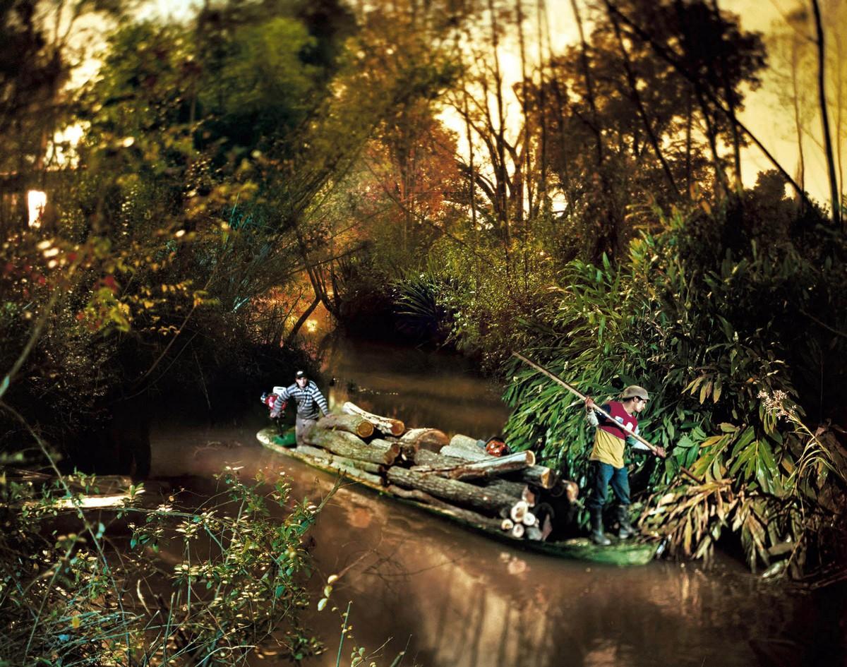 Жители островов в дельте реки Парана