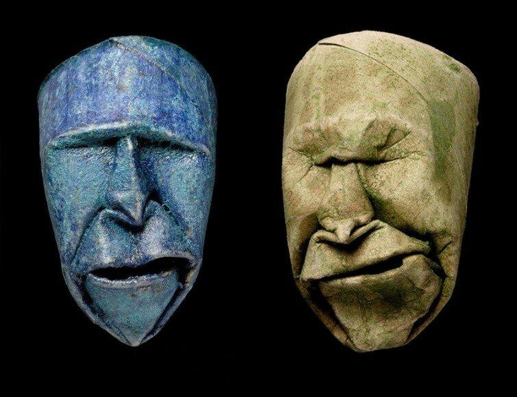 Жаке: сморщенные лица из рулончиков туалетной бумаги