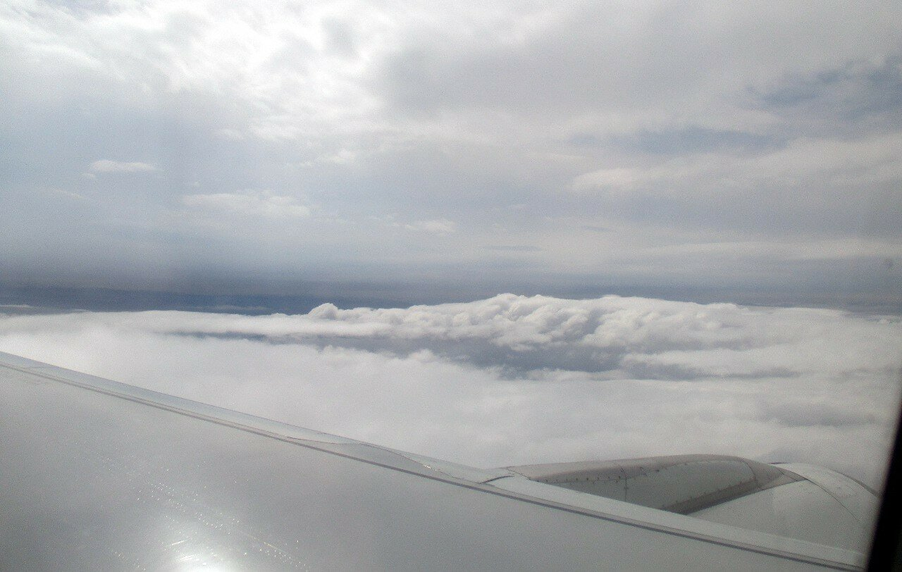 Yekaterinburg-Istanbul. Above the clouds