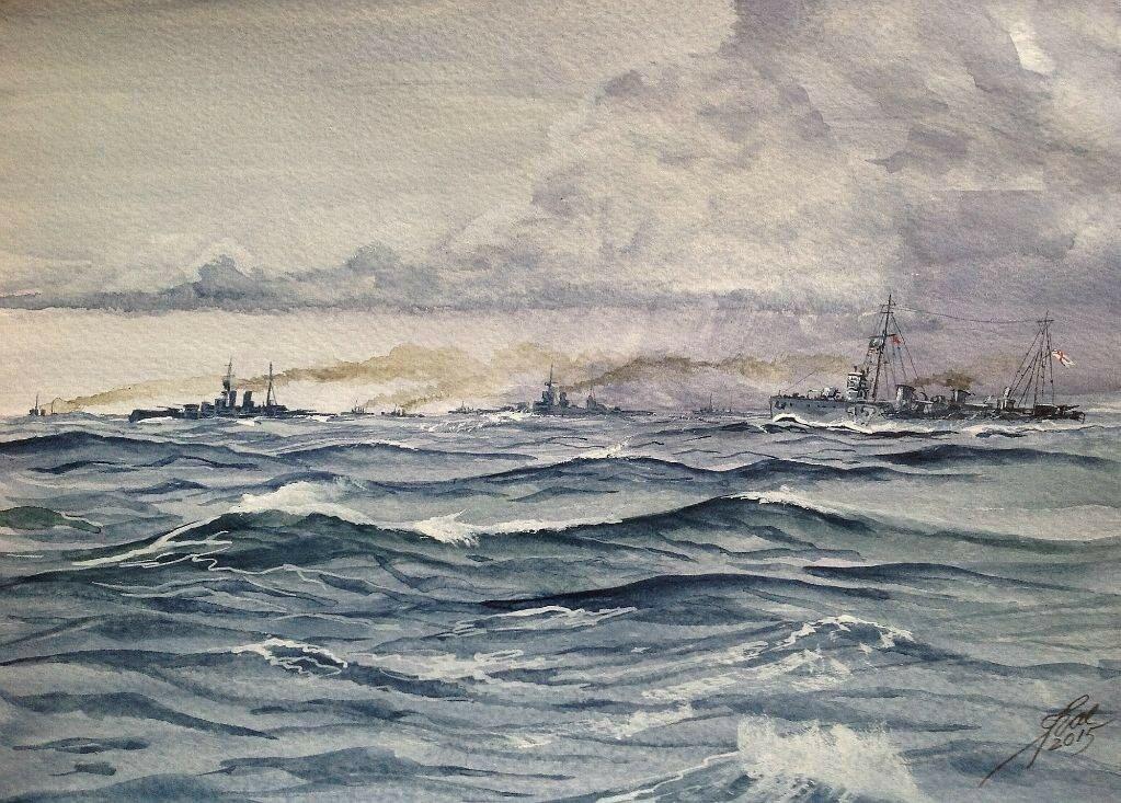 North Sea May 1916. 'Hell Bent'!