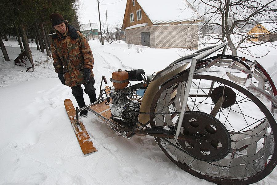Снегоход-«колесо».