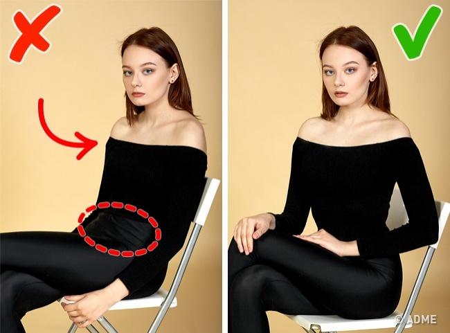 Проблема: даже слегка сгорбленная спина визуально укорачивает шею идобавляет несколько лишних килог