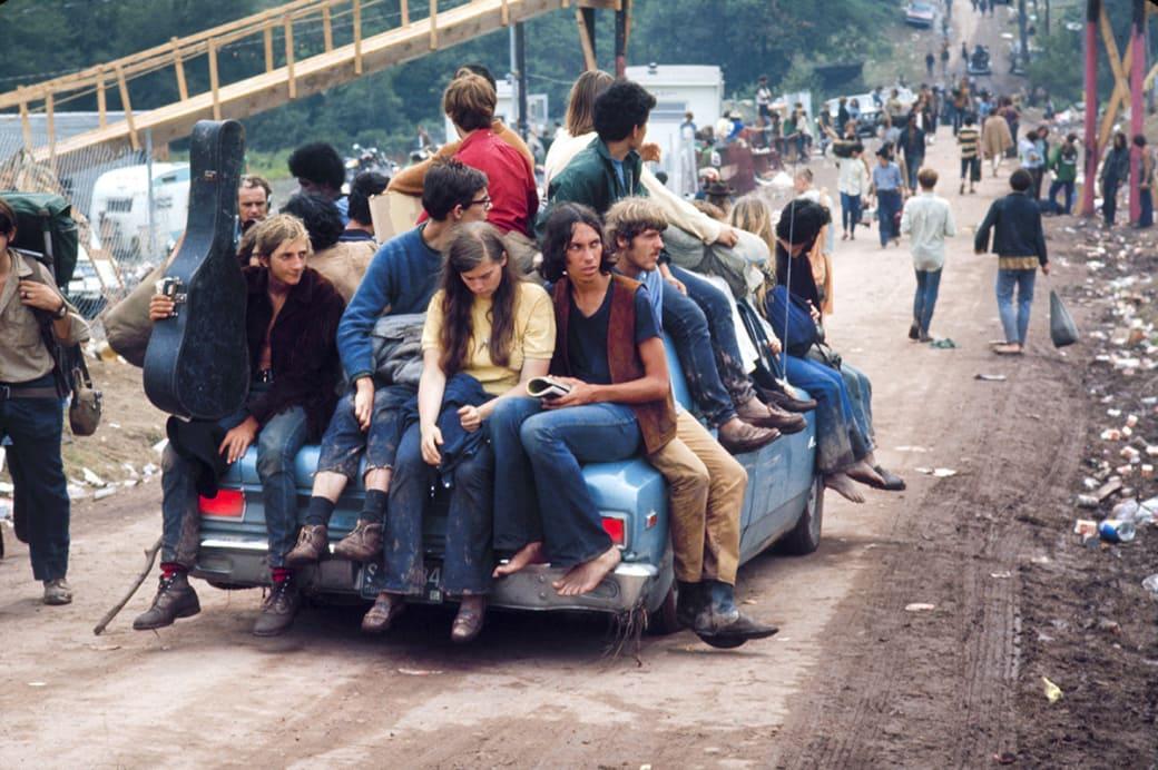 Молодые люди едут на Вудсток. Фото: Bill Eppridge / Getty Images.