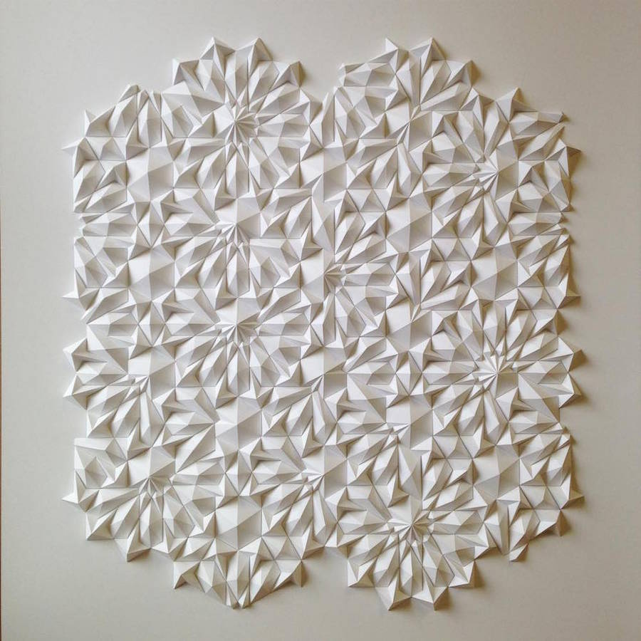 Geometric Paper Sculptures by Matthew Shilan