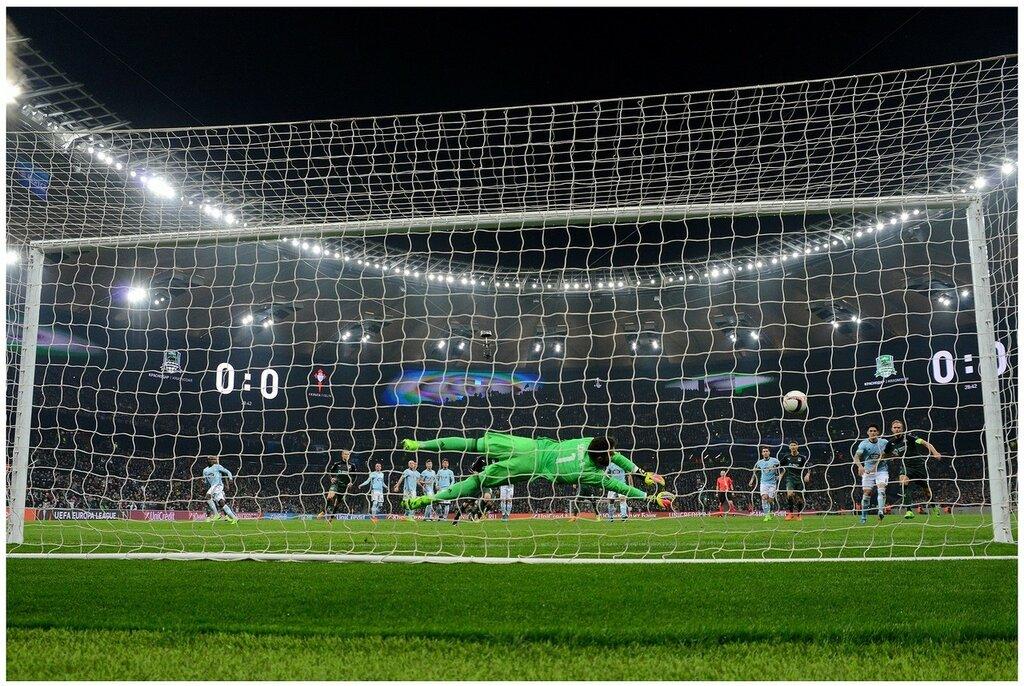 Вратарь Альварес спасает ворота Сельты. 16 марта 2017