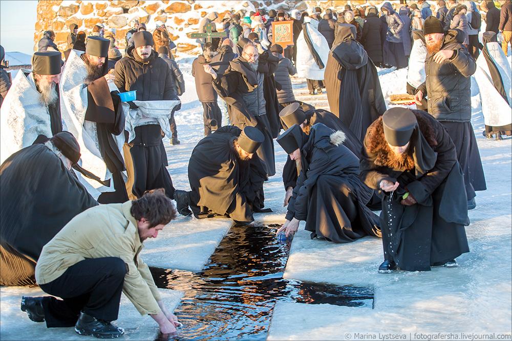 Соловки, крещение
