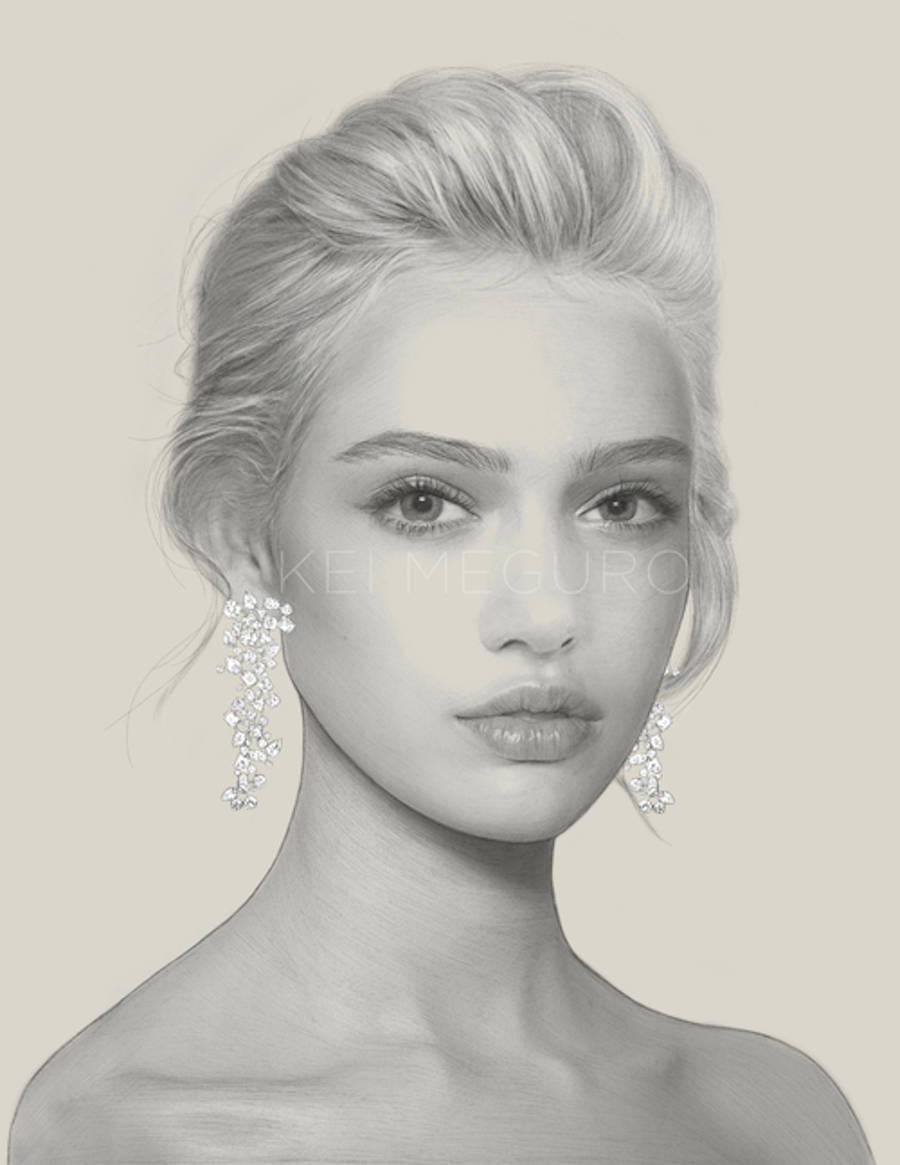 Amazing Pencil Drawings of Fashion Girls by Kei Meguro