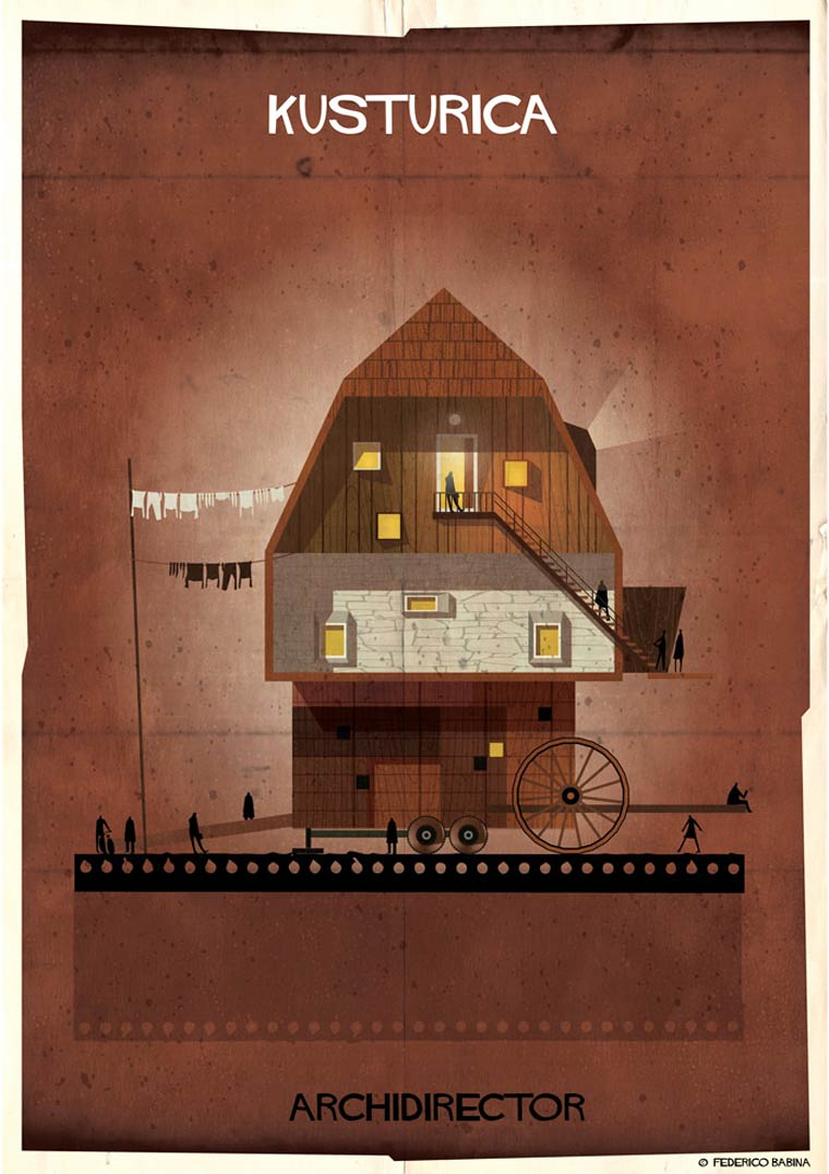 Archidirector - Un illustrateur imagine les maisons des realisateurs celebres
