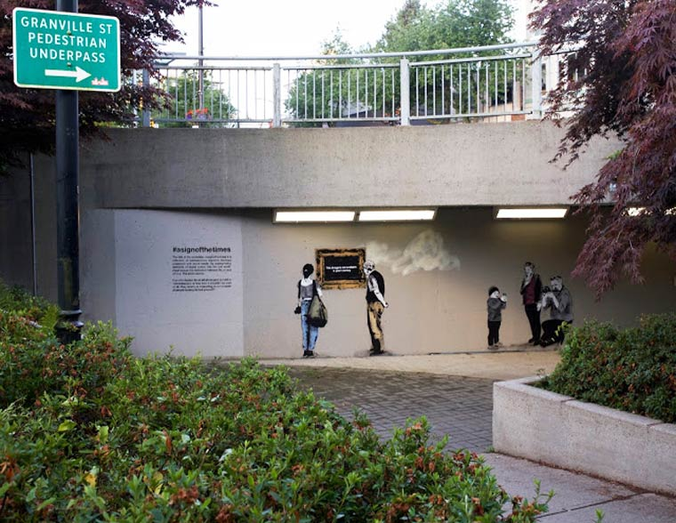 Street Art - The artist iHeart creates an open air exhibition in Vancouver