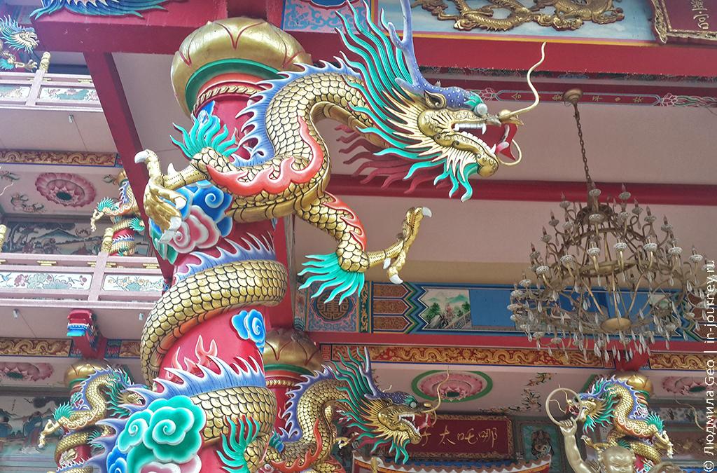 драконы в китайском храме
