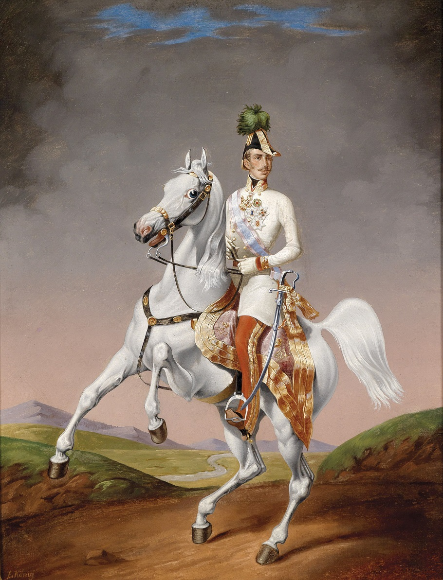Lilly König Portrait of the young Emperor Francis Joseph on horse