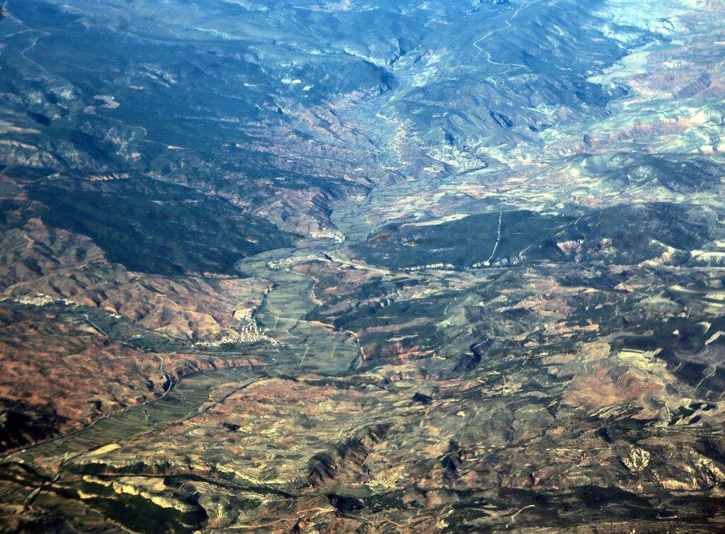 Горы Валенсии, вид с самолета