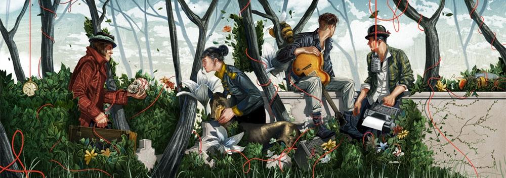 Яркие работы этого современного мастера иллюстрации, чем-то напоминают винтажные плакаты в стиле 50-