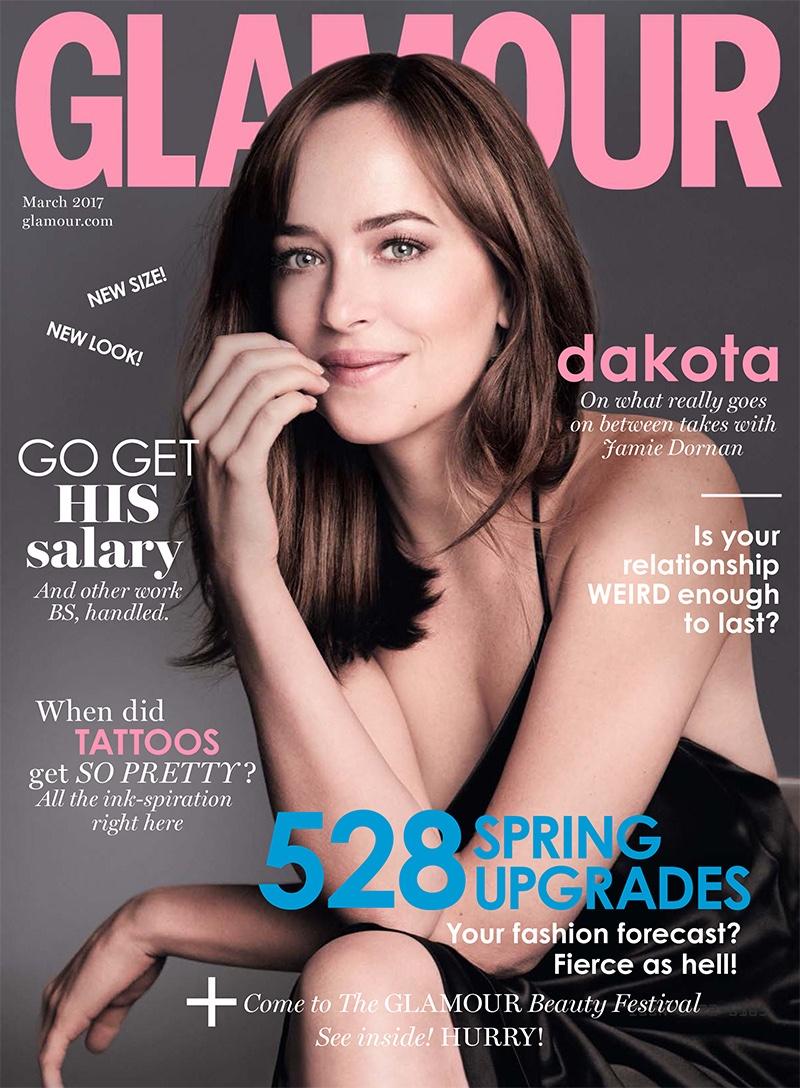 Дакота Джонсон на обложке Glamour UK (6 фото)