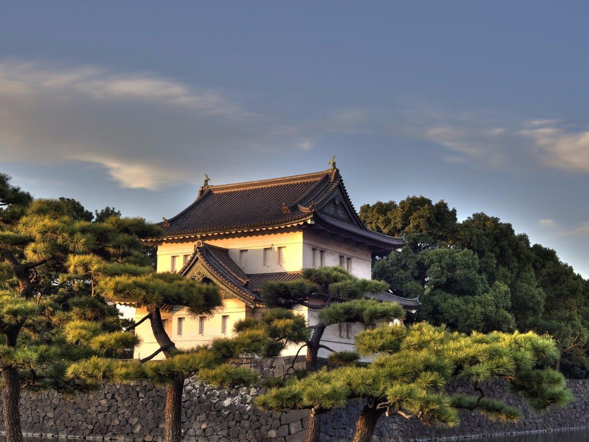 Императорский дворец находится в центре Токио и огорожен огромным парком, рвом и толстыми каменными