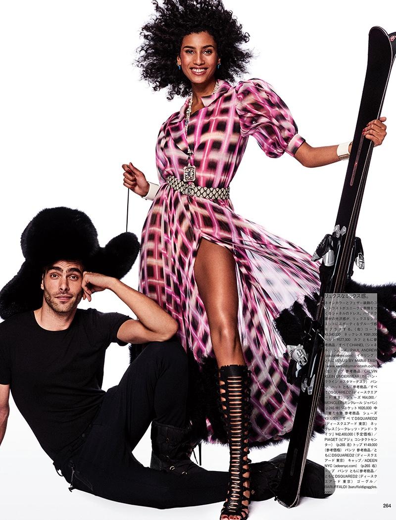 Имаан Хаммам на обложке японского Vogue
