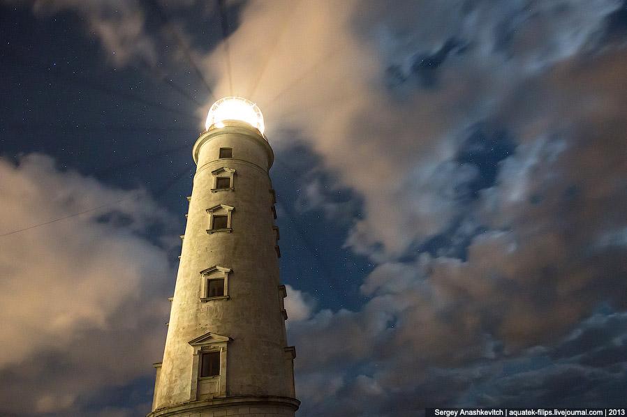 Так выглядит 36-метровая башня с моря: