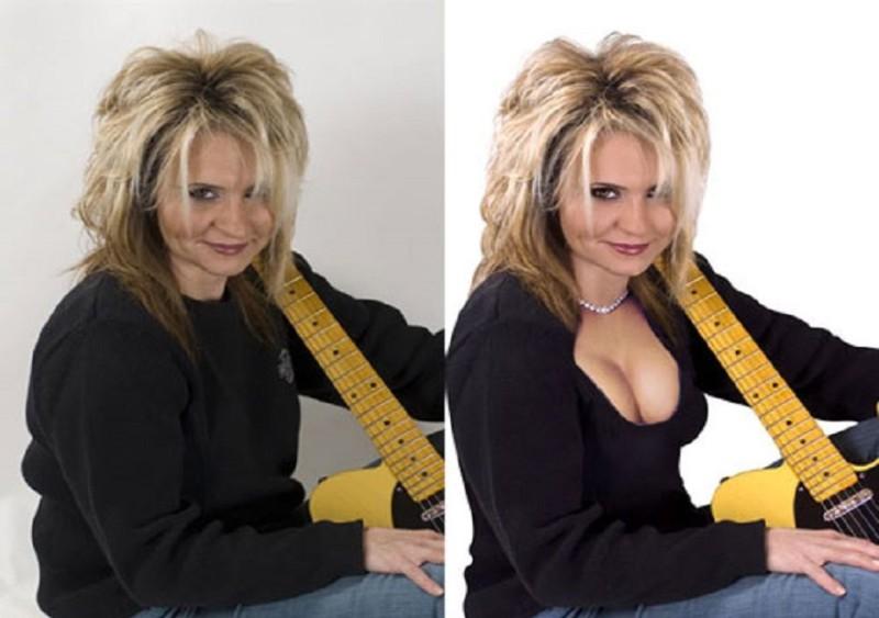 Добавил сексуальности в фотографию Взгляните на этот снимок до и после фотошопа. Женщина на фотограф
