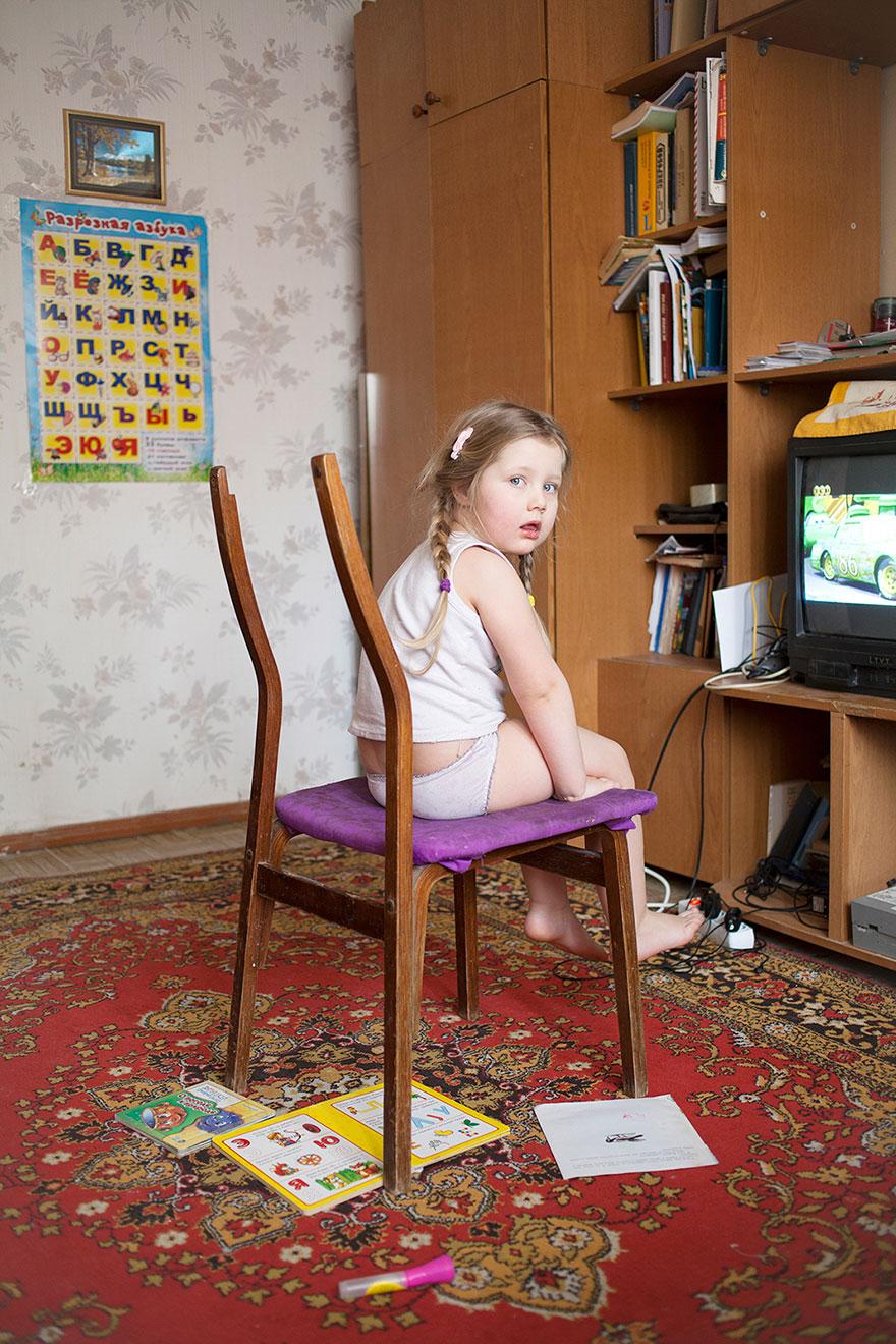 Lea watching TV