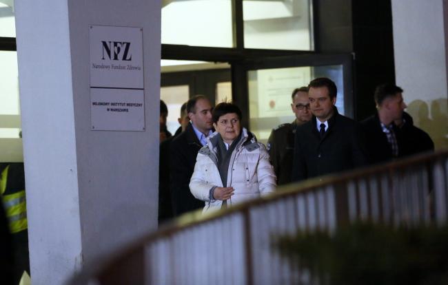 Пострадавшая вДТП премьер Польши выписалась из клиники