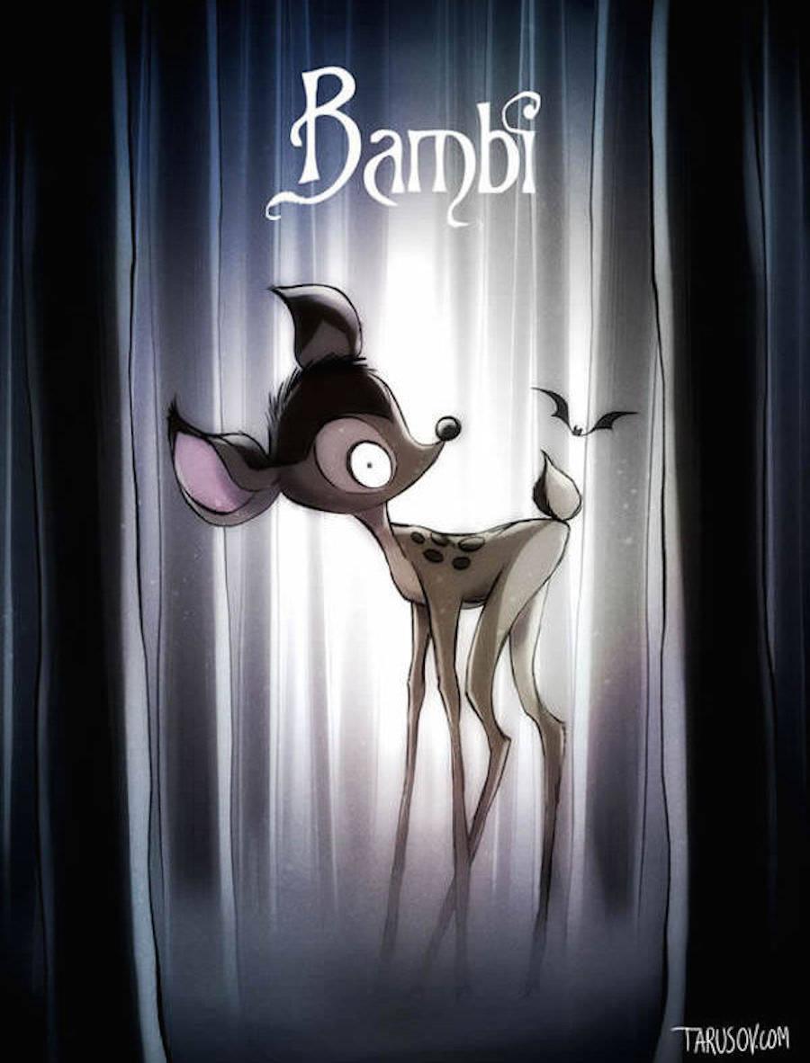 If Tim Burton Directed Disney Movies