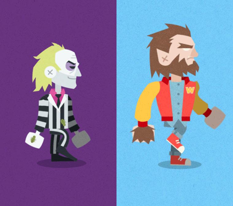 Les monstres cultes de la pop culture transformes en mignons GIF animes