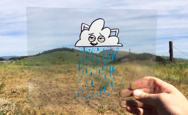 Quand les doodles s'incrustent dans la realite (8 pics)