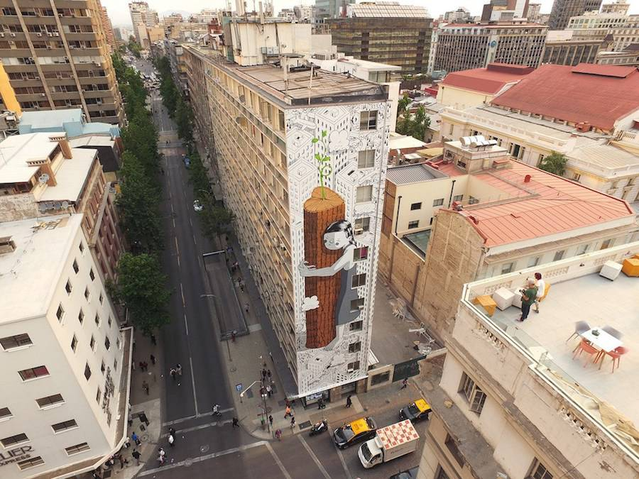 Creative Ecological Mural in Chile