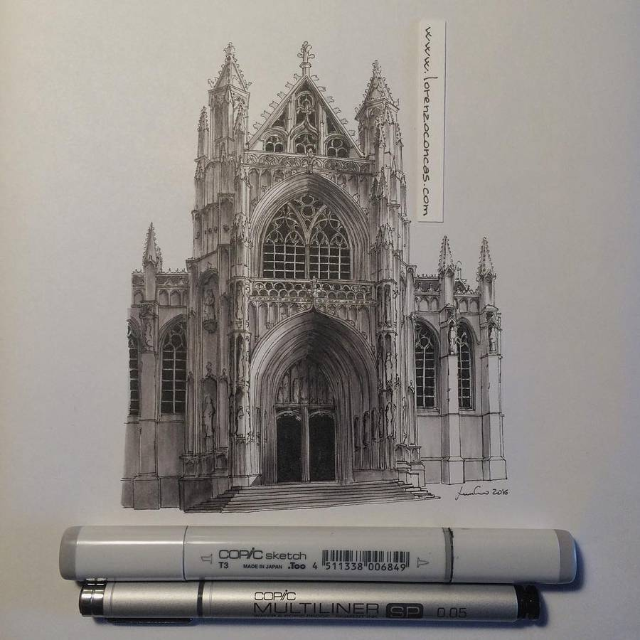 Accurate Miniature Architectural Illustrations